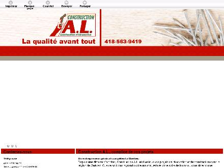 Construction Alain Laforge ( A L) (418-563-9419) - Onglet de site Web - http://constructionalainlaforge.com/