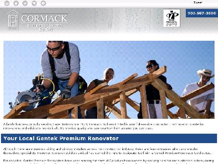 Cormack Builders Limited (902-567-3600) - Onglet de site Web - http://renovationscapebreton.ca/