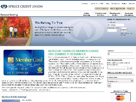 Spruce Credit Union (250-562-5415) - Onglet de site Web - http://www.sprucecu.bc.ca