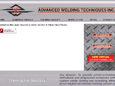 Advanced Welding Techniques Inc (1-800-794-7840) - Onglet de site Web - http://www.advancedwelding.ca