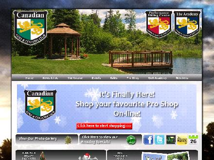 Canadian Golf & Country Club (613-253-3290) - Onglet de site Web - http://www.canadiangolfclub.com