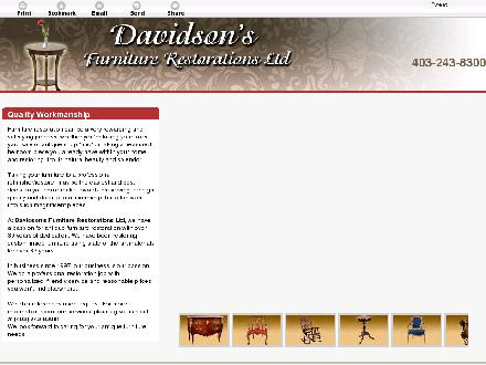 Davidson's Furniture Restorations Ltd (403-243-8300) - Onglet de site Web - http://davidsonsfurniture.ca/