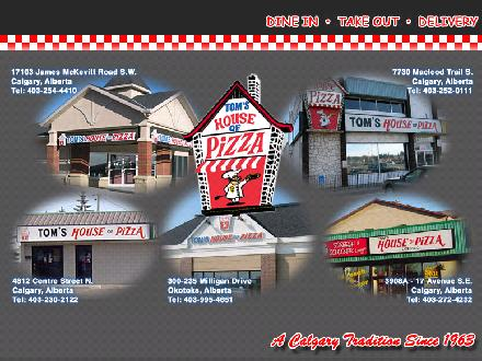 Tom's House Of Pizza (403-252-0111) - Onglet de site Web - http://www.tomshouseofpizza.com