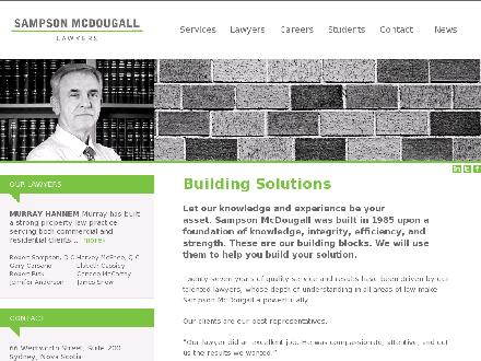 Sampson McDougall Barristers Solicitors (1-855-224-8612) - Onglet de site Web - http://www.sampsonmcdougall.com