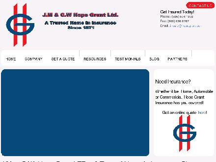 Hope Grant J M & C W Ltd (1-877-460-9566) - Onglet de site Web - http://www.hopegrant.com
