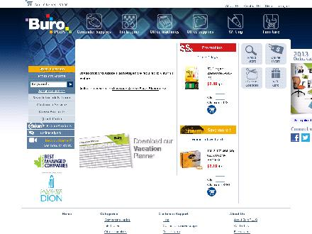 Buro Plus - Website thumbnail - http://www.buroplus.ca
