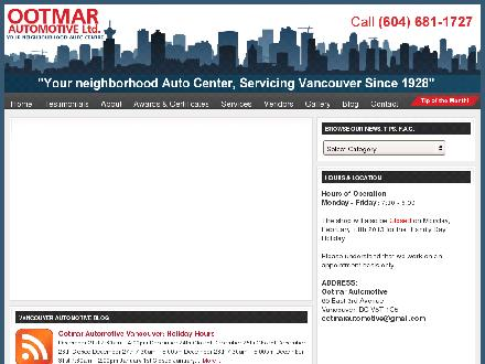 Ootmar Automotive Ltd (604-681-1727) - Website thumbnail - http://www.ootmar.ca