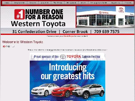 Western Toyota Ltd (709-639-7575) - Onglet de site Web - http://www.westerntoyota.com