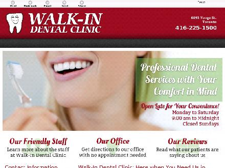 Walk In Dental Clinic (647-691-0745) - Website thumbnail - http://walkindentalclinic.ca/