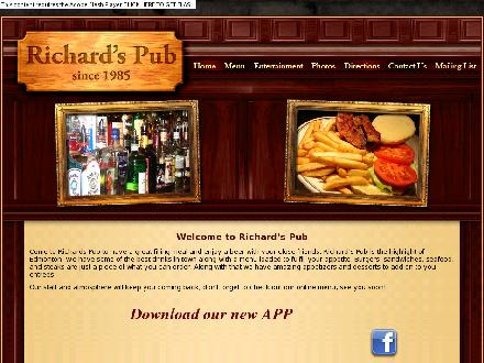 Richard's Pub (780-457-3117) - Website thumbnail - http://www.richardspub.ca
