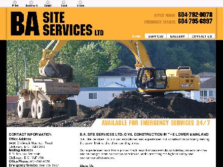BA Site Services Ltd (604-792-0078) - Onglet de site Web - http://basiteservices.com