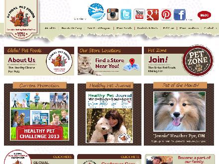 Global Pet Foods (905-628-8700) - Onglet de site Web - http://www.globalpetfoods.ca