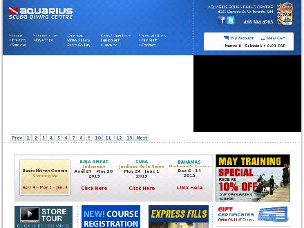 Aquarius Scuba Diving Centre (647-977-7083) - Onglet de site Web - http://www.aquariusscuba.com