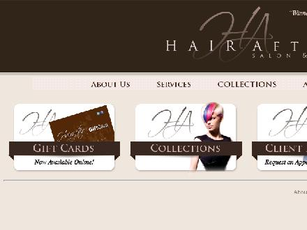 Hairafter Salon & Spa (416-221-6658) - Onglet de site Web - http://www.hairafter.ca