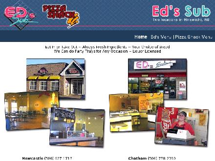 Pizza Shack (506-778-2390) - Website thumbnail - http://www.edsmiramichi.com