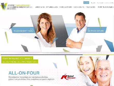 Centre Dentaire Girard Et Martineau (418-522-3368) - Website thumbnail - http://www.implantsdentairesquebec.com