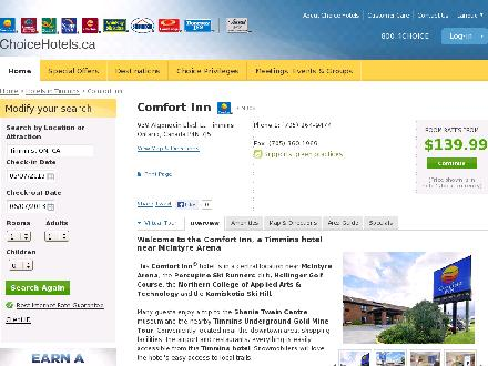Comfort Inn (506-453-0800) - Website thumbnail - http://www.choicehotels.ca/cn308