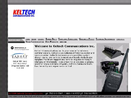 Keltech Communications Inc (780-542-5707) - Website thumbnail - http://www.keltech.ab.ca