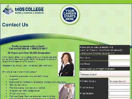 triOS College Business Technology Healthcare (1-888-275-5396) - Website thumbnail - http://www.triosinfo.ca