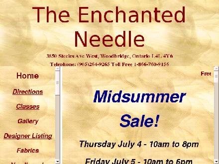The Enchanted Needle (905-264-9265) - Website thumbnail - http://www.theenchantedneedle.net