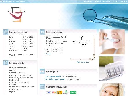 Clinique Dentaire Baril & Parent (1-855-710-0787) - Onglet de site Web - http://www.dentistesquebec.org/fra/cliniques/clinique-dentaire-baril--parent.asp