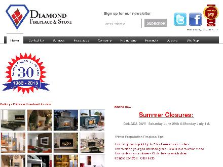 Diamond Fireplace & Stone Distributors Ltd (403-273-0000) - Website thumbnail - http://www.diamondfireplace.com