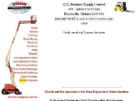 Hudson G C Supply (613-342-4578) - Website thumbnail - http://www.hudsonsupply.ca