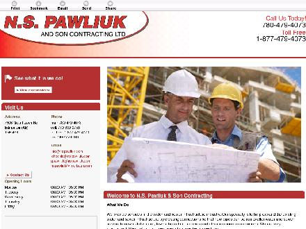 N S Pawliuk & Son Contracting Ltd (780-613-0273) - Website thumbnail - http://nspawliuk.com