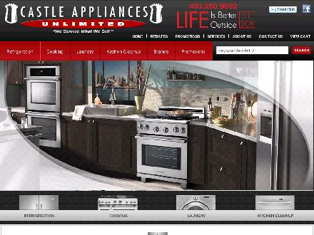 Castle Appliance Service Ltd (403-250-9592) - Onglet de site Web - http://www.castleappliance.com