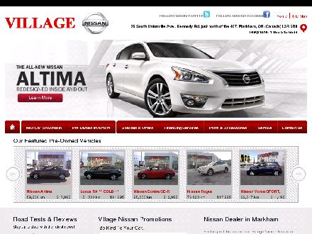 Village Nissan (905-477-3337) - Website thumbnail - http://www.villagenissan.com