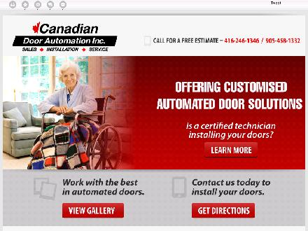 Canadian Door Automation Inc (416-246-1346) - Website thumbnail - http://canadiandoorautomation.com/