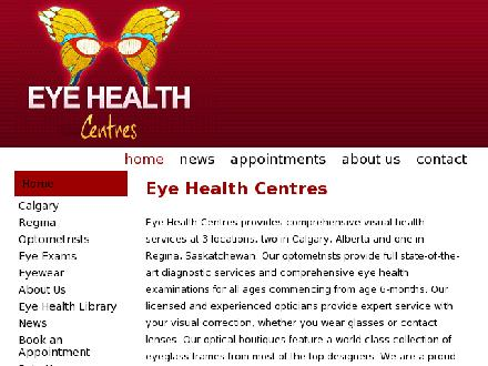 Eye Health Centres - Website thumbnail - http://www.eyehealthcentres.com
