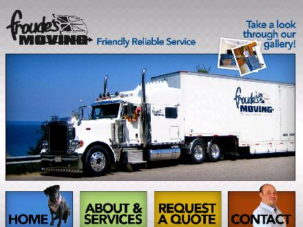 Froude's Moving (1-866-895-2292) - Onglet de site Web - http://www.Froudesmoving.com