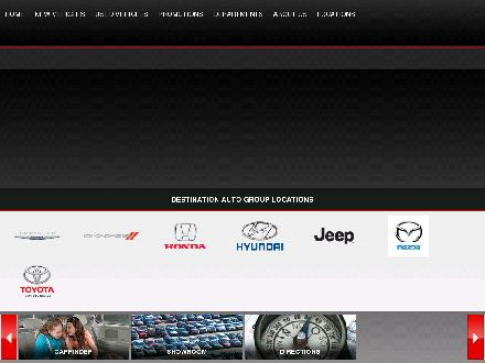 Destination Auto Group (604-696-3243) - Onglet de site Web - http://www.destinationauto.ca