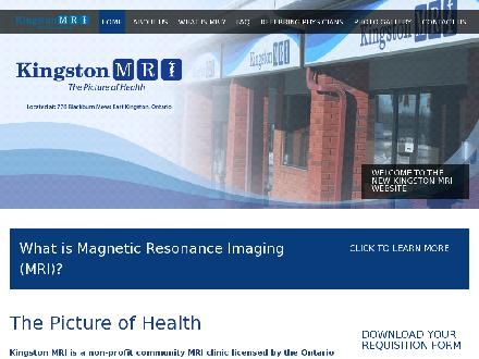 Kingston MRI (613-384-1220) - Onglet de site Web - http://www.kingstonmri.com