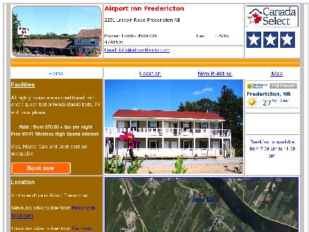 Airport Inn Inc (506-458-9706) - Onglet de site Web - http://www.airportinnnb.com