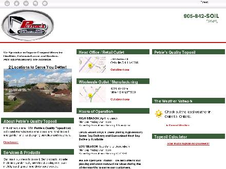 Petrie's Quality Topsoil Ltd (905-842-7645) - Website thumbnail - http://petrie.ca