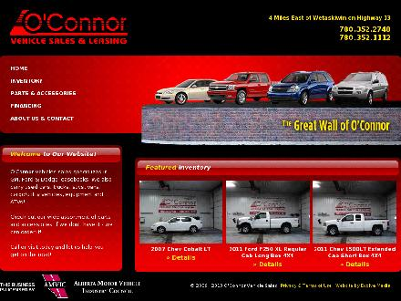 O'Connor Truck & Equipment Sales & Service Ltd (780-352-2748) - Onglet de site Web - http://www.oconnorvehiclesales.ca