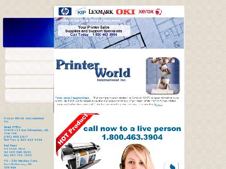 Printer World International (780-743-4197) - Website thumbnail - http://www.printerworld.com