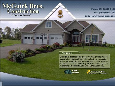 McGuirk Bros Construction Ltd hermitage (902-651-3031) - Onglet de site Web - http://www.mcguirkbros.com