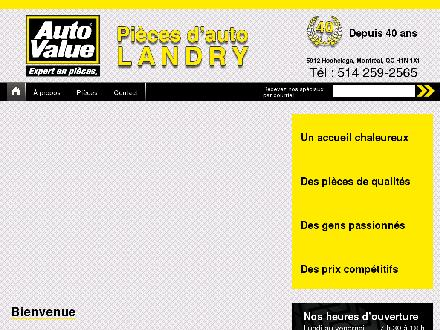 Pi&egrave;ces D'Auto Landry (514-259-2565) - Website thumbnail - http://www.palandry.ca