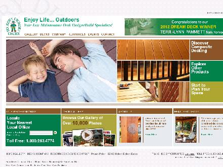 Hickory Dickory Decks (1-800-263-4774) - Website thumbnail - http://www.decks.ca