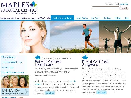 Maples Surgical Centre (204-633-1108) - Website thumbnail - http://www.maplessurgical.com