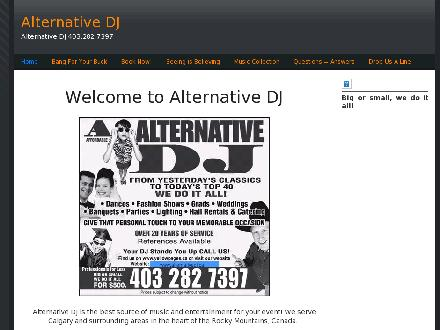 Alternative D J (403-282-7397) - Website thumbnail - http://www.alternativedj.ca