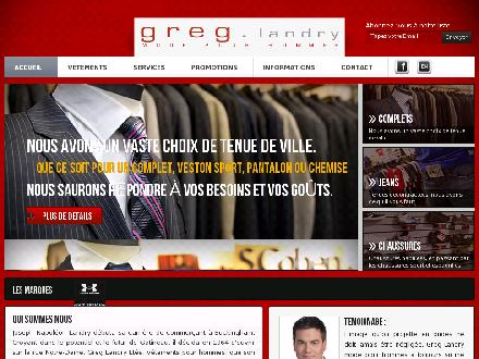 Greg Landry Mode pour hommes (819-663-2455) - Onglet de site Web - http://www.greglandry.net