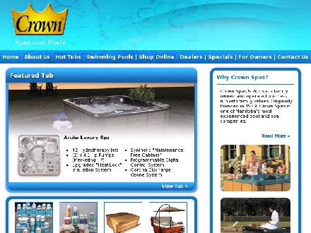Crown Spas & Pools (204-783-8501) - Onglet de site Web - http://www.crownspas.com