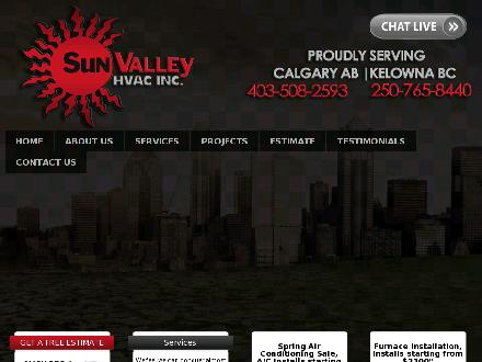 Sun Valley HVAC Inc (403-817-9915) - Onglet de site Web - http://www.sunvalleyhvac.ca