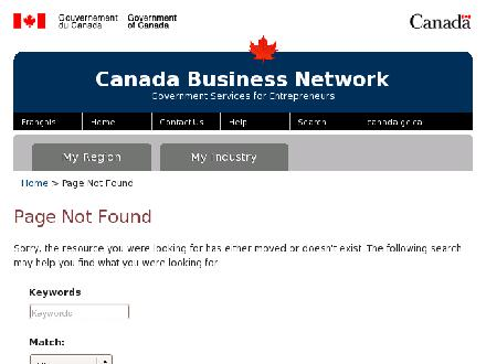 Canada/Nova Scotia Business Service Centre (1-800-457-8466) - Website thumbnail - http://www.cbsc.org/ns