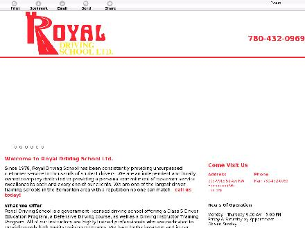 Royal Driving School Ltd (780-432-0969) - Website thumbnail - http://royaldrivingedmonton.com/