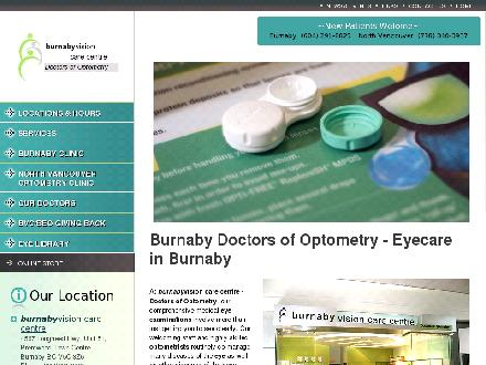 Burnaby Vision Care Centre (604-291-8825) - Onglet de site Web - http://www.beautifuleyes.ca